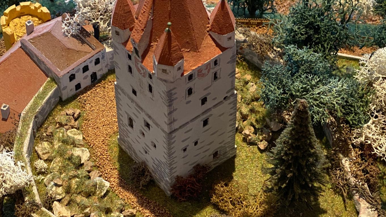 Reste der Burganlage heute
